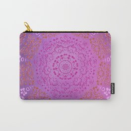 A Glittering Colorful Mandala Carry-All Pouch