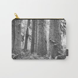 Forest Trail in Black and White Carry-All Pouch