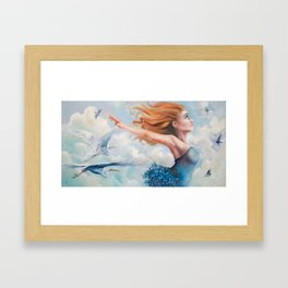 Zephyr, She Flies With Her Own Wings Framed Art Print