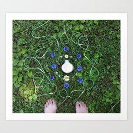 Garlic Scape Mandalla Art Print