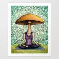 mushroom Art Prints featuring Mushroom by Lauren Stenger