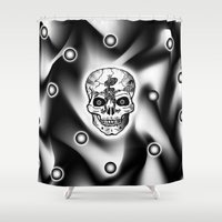 bones Shower Curtains featuring Bones  by Bwilly Bwightt