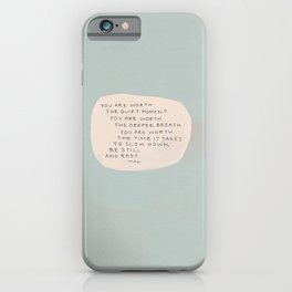 Be Still And Rest. iPhone Case