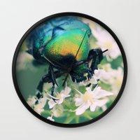 bug Wall Clocks featuring Bug by Falko Follert Art-FF77