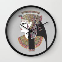 egyptian Wall Clocks featuring EGYPTIAN GODDESS by Bianca Green