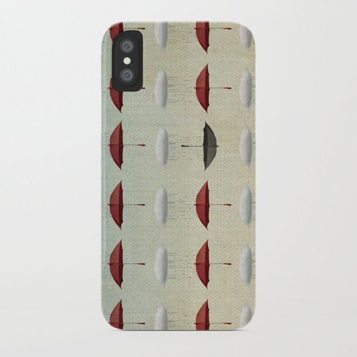 embracing the rain pattern iPhone Case