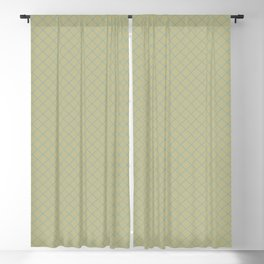Tranquil Blue on Earthy Green Parable to 2020 Color of the Year Back to Nature Angled Grid Pattern Blackout Curtain