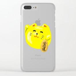 Neko Cat Yellow Clear iPhone Case