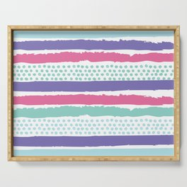 Painterly Stripes Serving Tray