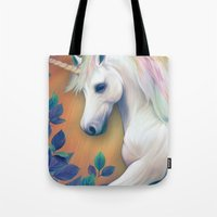 unicorn Tote Bags featuring Unicorn by ShannonPosedenti