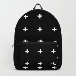 White Plus on Black /// www.pencilmeinstationery.com Backpack