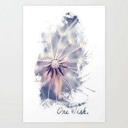 Dandelion Blue Graphic - Vertical Art Print
