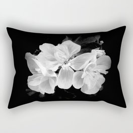 geranium in bw Rectangular Pillow