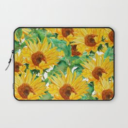 sunflower pattern Laptop Sleeve