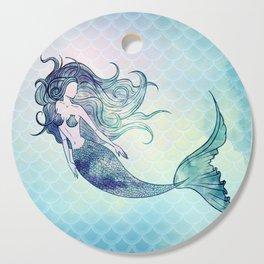 Watercolor Mermaid Cutting Board