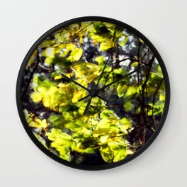 Leaves in the Wind Wall Clock