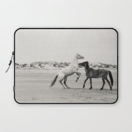 Wild Horses 5 - Black and White Laptop Sleeve