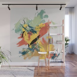 Intuitive Conversations, Abstract Mid Century Colors Wall Mural