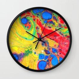 Marbling, Tie Dye Effect Abstract Pattern Wall Clock
