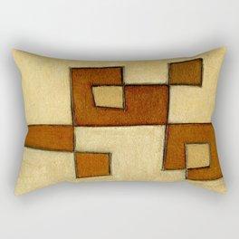 Protoglifo 01 'brown yell' Rectangular Pillow