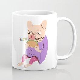 Frenchie Loves Taco Coffee Mug