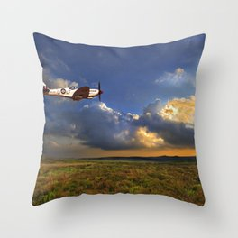 spitfire in the evening Throw Pillow