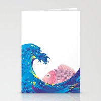hokusai Stationery Cards featuring Hokusai Rainbow & Jpanese Snapper  by FACTORIE