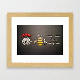 014: 100 Hoopties - Eye Bee Em Framed Art Print