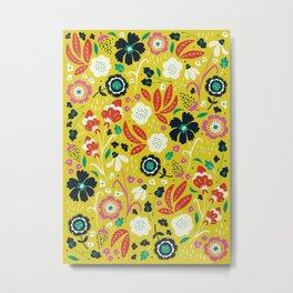 Flourishing Florals Metal Print