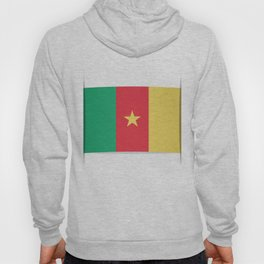 Flag of Cameroon.  The slit in the paper with shadows.  Hoody