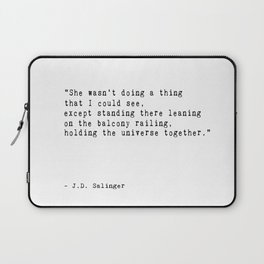 J. D. Salinger Quote Printable  'A Girl I Knew' Laptop Sleeve