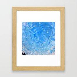 blue lagoon cocktail Framed Art Print