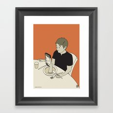 Foodporn Framed Art Print