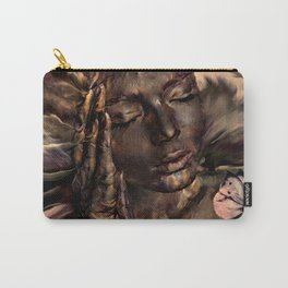 FLOWERS ARE SLEEPING Carry-All Pouch
