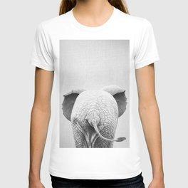 Baby Elephant Tail - Black & White T-shirt