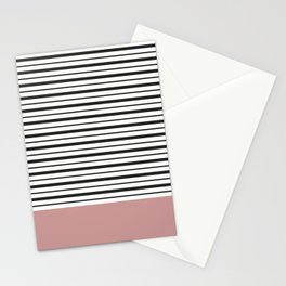 SAILOR STRIPES WITH PINK Stationery Cards