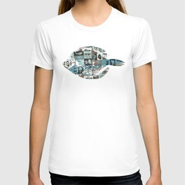 Fish in the living room art print T-shirt