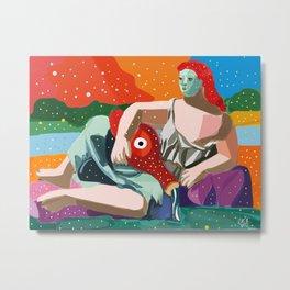 Remix of La Source by Pablo P Cubist Pop Art Metal Print