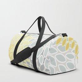 Floral Prints, Soft, Yellow and Gray, Modern Print Art Duffle Bag