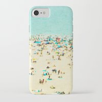 brooklyn iPhone & iPod Cases featuring Coney Island Beach by Mina Teslaru