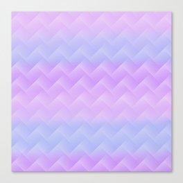 Chevron Candy floss Canvas Print