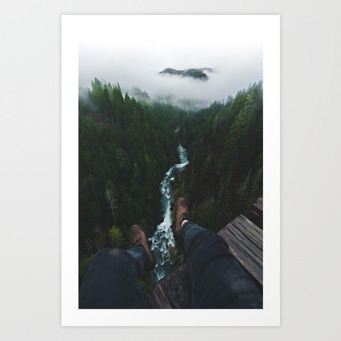 See you at the top! | Vance Creek Bridge - Olympic National Park, WA Art Print