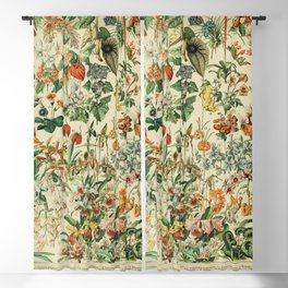 french vintage 1800s adolphe millot Blackout Curtain