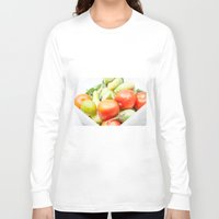 vegetables Long Sleeve T-shirts featuring vegetables by Marcel Derweduwen