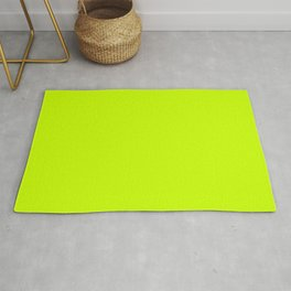 ELECTRIC LIME Neon solid color Rug