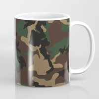 camo Mugs featuring Camo by TheSmallCollective