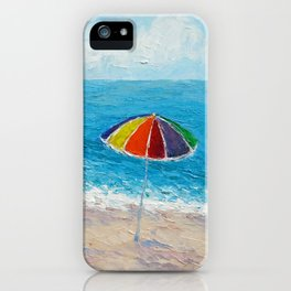 Lazy Days Beach Umbrellas iPhone Case