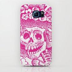 Calavera Catrina   Pink and White Slim Case Galaxy S6