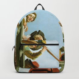 Gerard van Honthorst - Musical Group on a Balcony Backpack