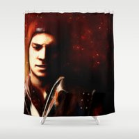 infamous Shower Curtains featuring InFAMOUS: Second Son by Kate Dunn